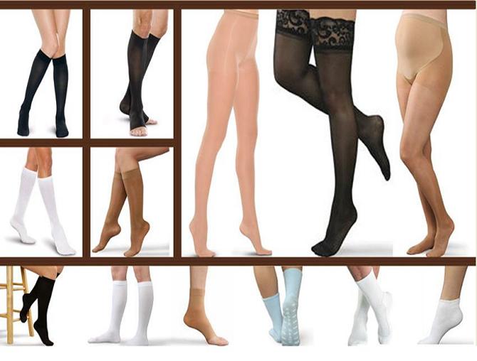 Ciorapi compresivi anti-varice pana la nivelul genunchiului